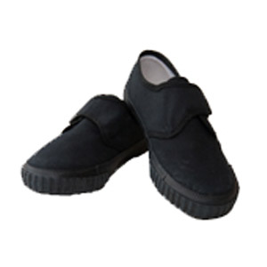 All Saints Primary Black Velcro Plimsolls