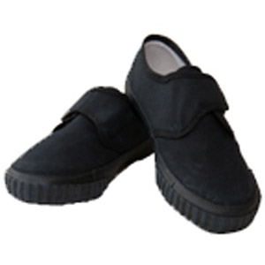 Leechpool Primary Black Velcro Strap Plimsolls