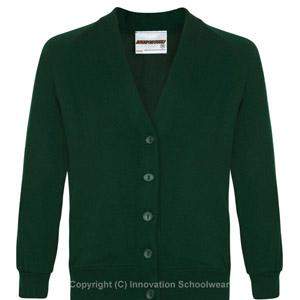 Leechpool Primary Green Cardigan