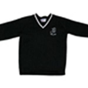 Millais School Black V Neck Jumper