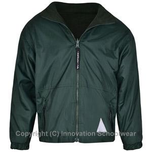 Manor Green Primary Green Reversible Fleece Jacket