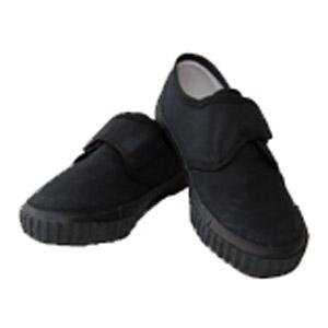 Manor Green Primary Black Velcro Strap Plimsolls
