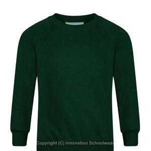 Manor Green Primary Round Neck Sweatshirt