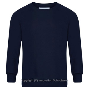 Northolmes Junior Navy Round Neck Sweatshirt