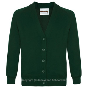 Rusper Primary Green Cardigan