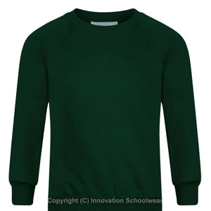 Rusper Primary Green Round Neck Sweatshirt