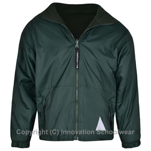 Leechpool Primary Green Reversible Fleece Jacket