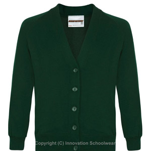 Leechpool Primary Green Cardigan