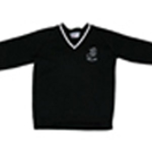 Millais School Black V Neck Jumper