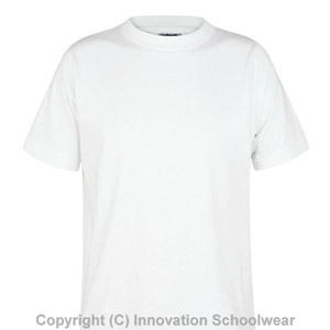 Manor Green College White PE T-shirt