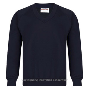Manor Green College Navy V Neck Sweatshirt