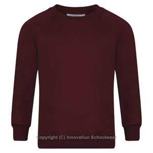 Pound Hill Maroon Round Neck Sweatshirt