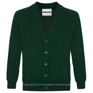 Rusper Primary Green Cardigan