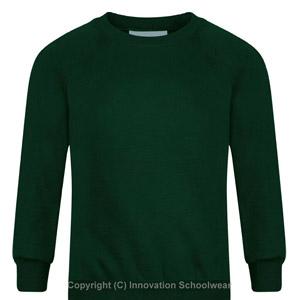 Rusper Primary Green Round Neck Sweatshirt