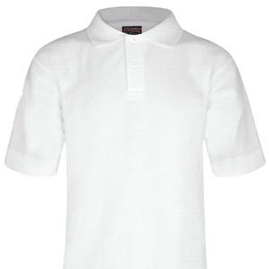 St Marys White Poloshirt