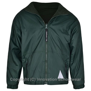 St Peters Primary School Green Reversible Fleece Jacket