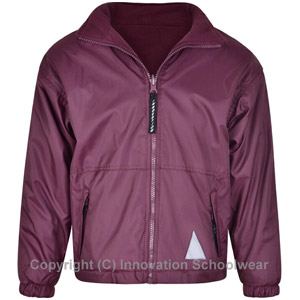 St Roberts Catholic Primary School Jacket. £20.00. Maroon Reversible Fleece  Jacket with Logo 68eaa5c3ced04
