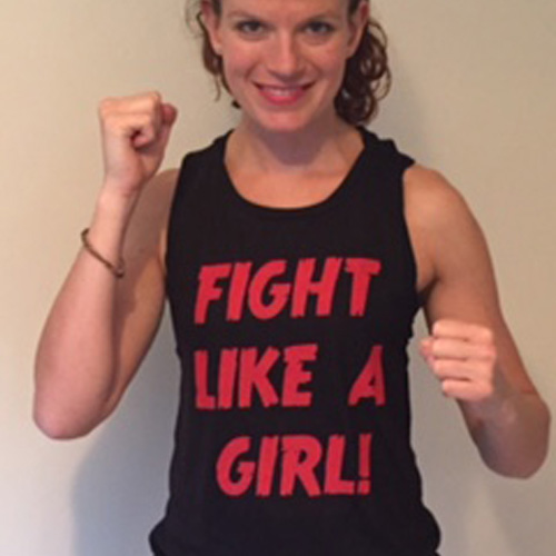 Fight like a girl vest